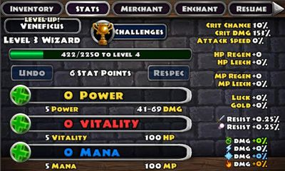 Геймплей Dungeon Quest для Android телефону.