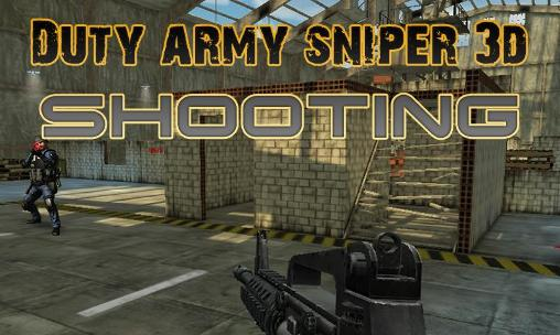 Duty army sniper 3d: Shooting обложка