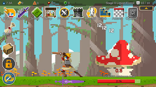 Screenshots von Ego sword: Idle sword clicker für Android-Tablet, Smartphone.