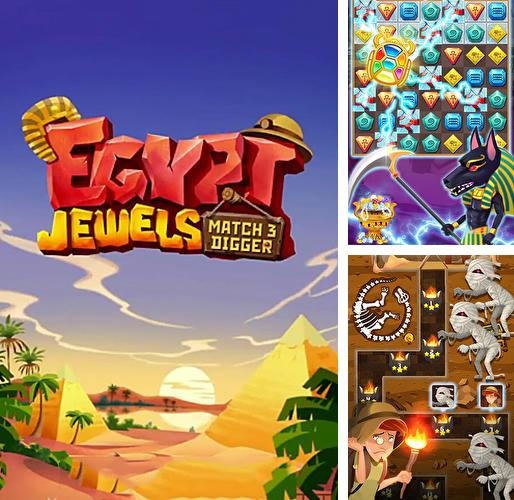 Egypt jewels: Gems match 3 digger