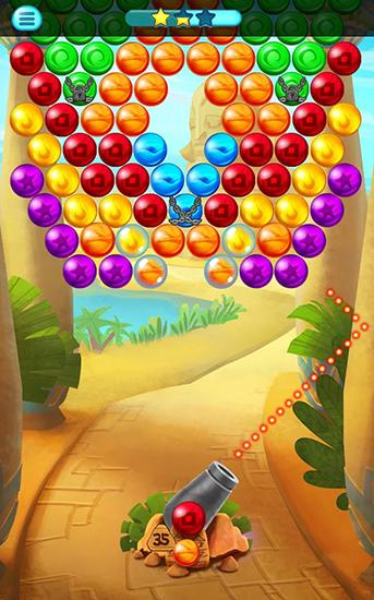 Screenshots do Egypt pop bubble shooter - Perigoso para tablet e celular Android.