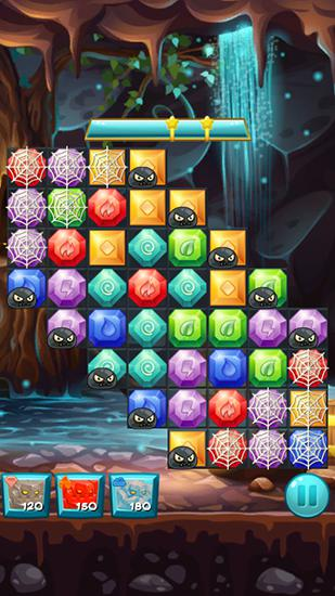 Capturas de pantalla de Elemental jewels: Match 3 game para tabletas y teléfonos Android.