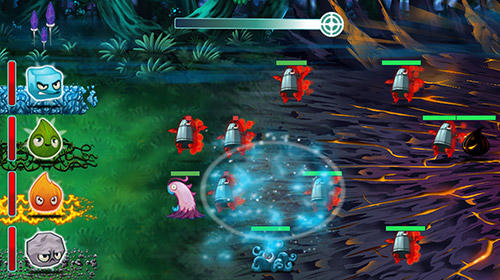 Screenshots of the Elements vs. monsters for Android tablet, phone.