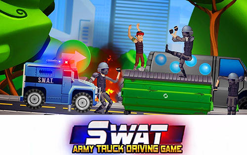 Elite SWAT car racing: Army truck driving game poster