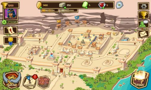 Screenshots do Empires of sand - Perigoso para tablet e celular Android.