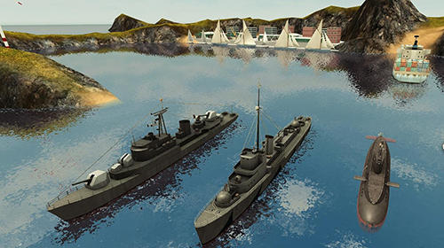 Screenshots von Enemy waters: Submarine and warship battles für Android-Tablet, Smartphone.