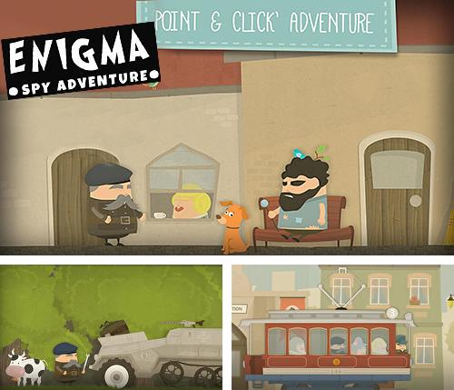 Enigma: Super spy. Point and click adventure game