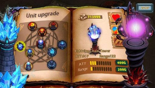 Screenshots von Epic defense: Fire of the dragons für Android-Tablet, Smartphone.