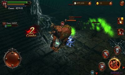 Screenshots do Eternity Warriors 2 - Perigoso para tablet e celular Android.