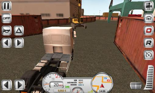 Screenshots of the Euro truck driver for Android tablet, phone.