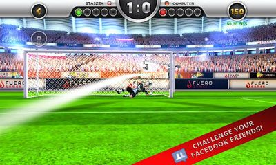 Screenshots of the EuroGoal 2012 for Android tablet, phone.