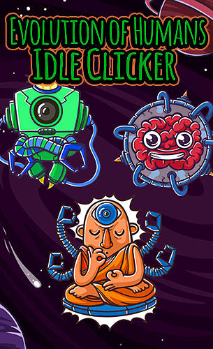 Evolution of humans: Idle clicker poster