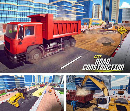 Excavator digging: Road construction simulator 3D