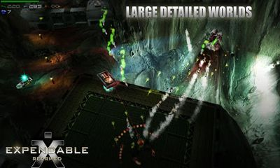 Screenshots of the Expendable Rearmed for Android tablet, phone.