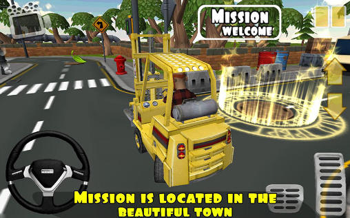 Extreme forklift: City drive. Danger forklift screenshot 3