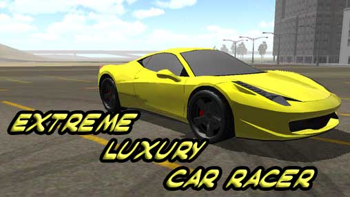Extreme luxury car racer poster