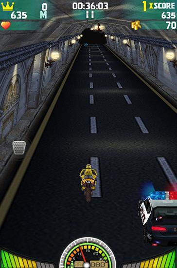 Геймплей Extreme moto game 3D: Fast Racing для Android телефону.