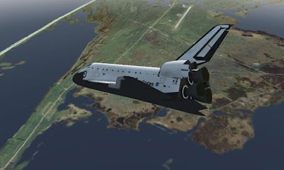 Screenshots of the F-Sim Space Shuttle for Android tablet, phone.