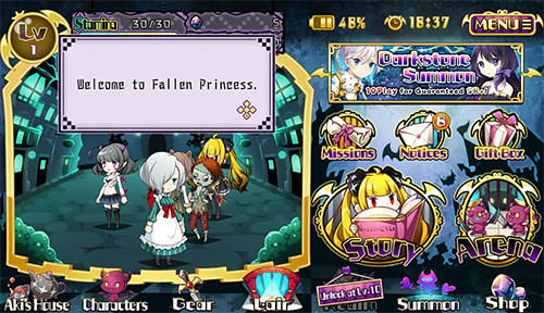 Screenshots von Fallen princess für Android-Tablet, Smartphone.