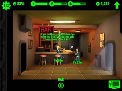 Screenshots do Fallout shelter v1.41 - Perigoso para tablet e celular Android.