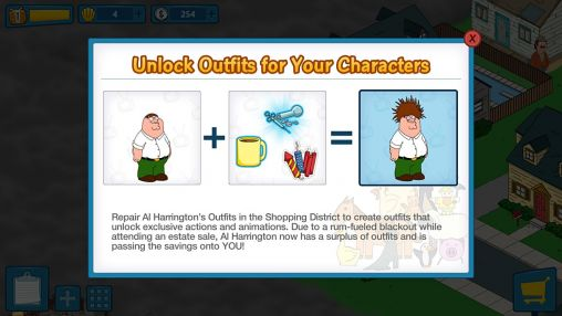 Screenshots von Family guy: The quest for stuff für Android-Tablet, Smartphone.