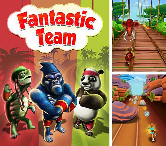 En plus du jeu La Fin pour téléphones et tablettes Android, vous pouvez aussi télécharger gratuitement Le Runner Fantastique: La Course d'Equipe, Fantastic runner: Run for team.