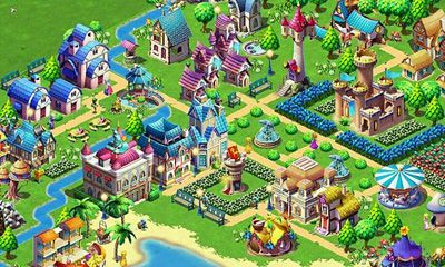 Screenshots of the Fantasy Town for Android tablet, phone.