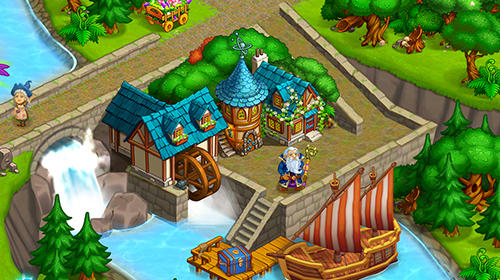 Screenshots do Farm fantasy: Happy magic day in wizard Harry town - Perigoso para tablet e celular Android.