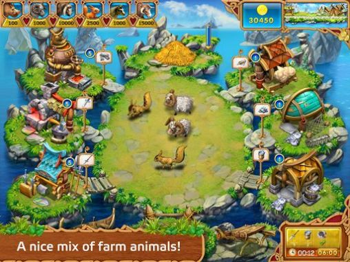 Kostenloses Android-Game Farm Frenzy: Vikinger-Helden. Vollversion der Android-apk-App Hirschjäger: Die Farm frenzy: Viking heroes für Tablets und Telefone.