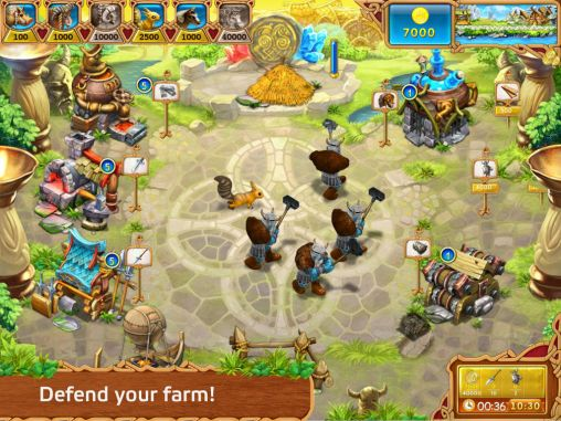 Screenshots von Farm frenzy: Viking heroes für Android-Tablet, Smartphone.