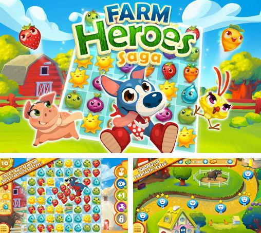 In addition to the game Farm heroes: Super saga for Android phones and tablets, you can also download Farm heroes saga for free.