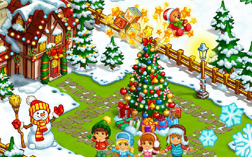 Farm snow: Happy Christmas story with toys and Santa screenshot 2