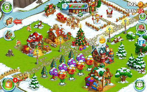 Farm snow: Happy Christmas story with toys and Santa screenshot 3