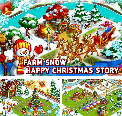 Farm snow: Happy Christmas story with toys and Santa