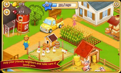 Screenshots von Farm Town (Hay day) für Android-Tablet, Smartphone.