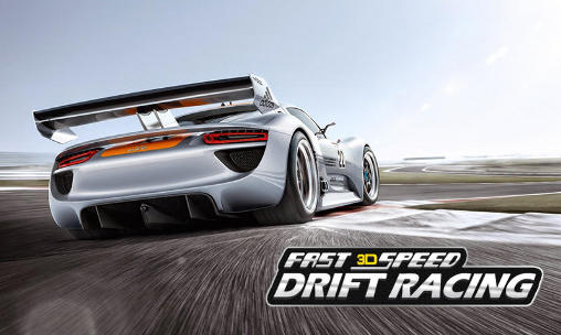 Fast speed drift racing 3D poster