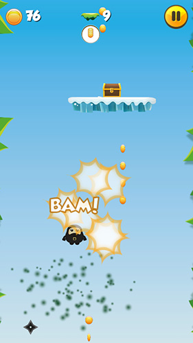 Screenshots do Fat jumping ninja - Perigoso para tablet e celular Android.