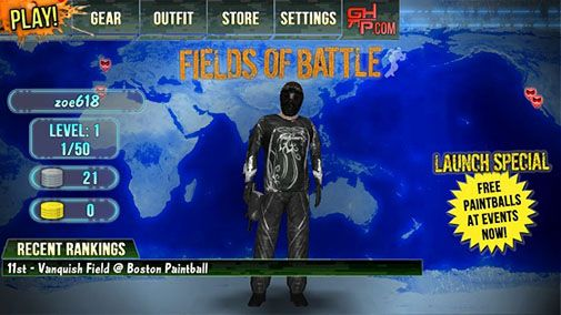 Screenshots of the Fields of battle for Android tablet, phone.
