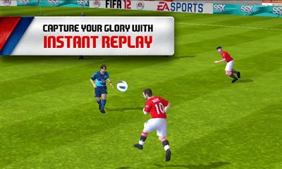 Screenshots do FIFA 12 - Perigoso para tablet e celular Android.