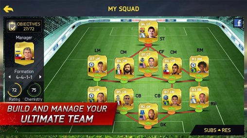 Kostenloses Android-Game FIFA 15: Ultimatives Team. Vollversion der Android-apk-App Hirschjäger: Die FIFA 15: Ultimate team für Tablets und Telefone.