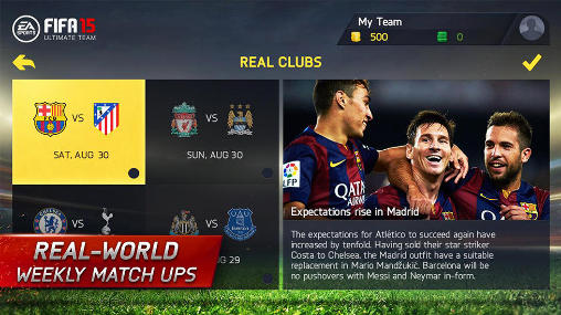 FIFA 15: Ultimate team screenshot 3
