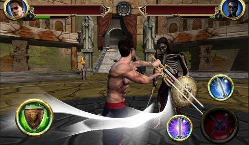 Écrans de Fight of the legends pour tablette et téléphone Android.