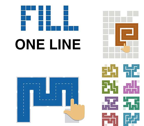 Fill: One-line puzzle game
