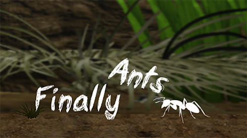 Finally ants poster