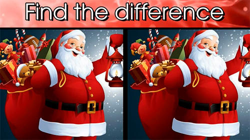 Find the difference Christmas: Spot it poster