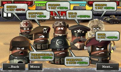 Screenshots of the Finger Army 1942 for Android tablet, phone.