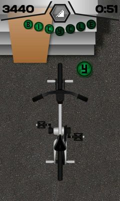 Screenshots of the Fingerbike BMX for Android tablet, phone.
