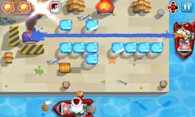 Screenshots of the Fire Busters for Android tablet, phone.