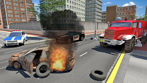Screenshots von Fire truck simulator 2019 für Android-Tablet, Smartphone.