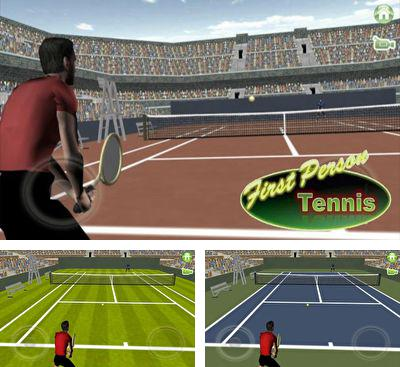 In addition to the game Cross Court Tennis for Android phones and tablets, you can also download First Person Tennis for free.